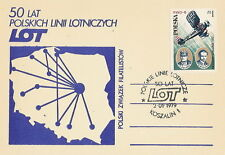Poland postmark KOSZALIN - aviation LOT (analogous)