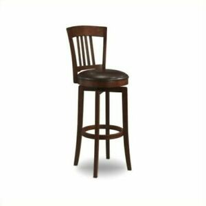 "Hillsdale Canton 30"" Swivel Pub Game Bar Counter Stool chair  Vinyl Seat Brown"