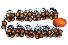 "50pcs 3/4"" LED Marker Lights LED Truck Trailer Clearance Indicator Lights Yellow"