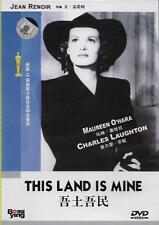 This Land is Mine DVD Charles Laughton Maureen O'Hara NEW R0 B&W 1943