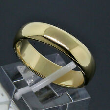 Tiffany & Co. Men's 18K Yellow Gold 6mm Wide Wedding Band Ring Size 10.5