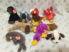 Lot of (8) TY Beanie Baby (All Have Tags & Good Condition) Strut Bernie Patti...