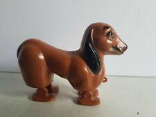 Brown Dog Walking Toy Figure Vintage hong Kong