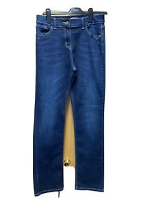 Ladies Navy Blue Jeanes From Marks & Spencer UK 12 Long VGC