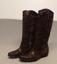 Franco Sarto Suede Leather Lizard Print Tall Side Zipper boots women's size 9.5M