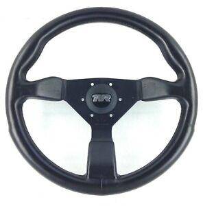 Genuine TVR Chimaera black leather 350mm Personal Grinta steering wheel. 7E