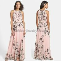 Ladies Womens Maxi Boho Summer Long Skirt Evening Cocktail Party Dress 8-20