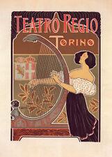 Théâtre Royal de Turin by Giuseppe Boano 90cm x 64cm Art Paper Print