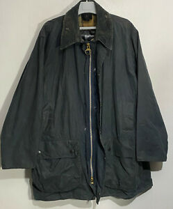 BARBOUR A201 Border Navy Wax Jacket size C46