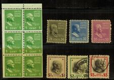 United States #804b,828,830-834 Mnh/Mh(832)/Used(833-4)