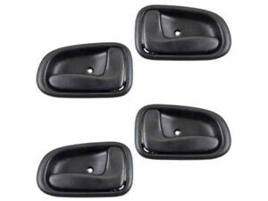 For Corolla Geo Prizm 93-97 Inner BLK Front Rear Left Right Door Handle 4 SET