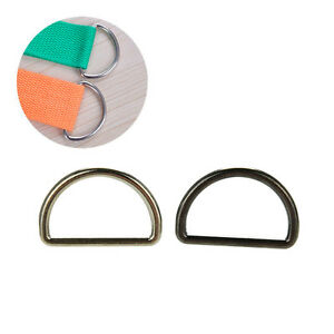 10X Metal Sliver D Ring D-rings Purse Ring Buckles For Webbing Strapping 25mmmd