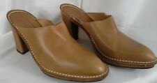 Women's Donald J Pliner Heels Leather Mules Brown Made in Italy 10 M platform