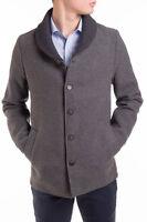 SCOTCH & SODA Size L Men's 31106 Wool Blend Single Breasted Coat - From POPPRI
