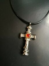 Cross Pendant with leather strap necklace