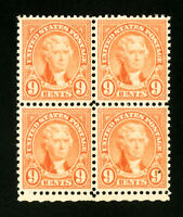 US Stamps # 641 Superb OG NH Block 4