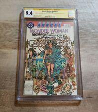 Wonder Woman Annual #1 CGC 9.4 SS Adams Perez Garcia-Lopez Signed 3x 1988