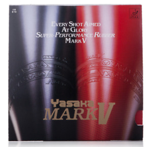 Yasaka Mark V Pips-in Table Tennis Ping Pong Rubber With Sponge Red/Balck