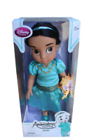 Disney Store Animators Collection Doll Jasmine with Pet Raja New in Box
