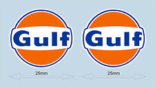 "Gulf logo laminated stickers 25 mm 1"" wide - Officially licensed"