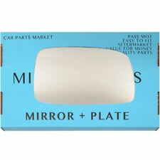 Right Driver side Flat Wing door mirror glass for Toyota Corolla 2004-07 +plate