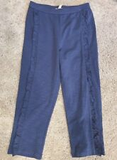 Matilda Jane Camp Mjc Scenic Hike navy ruffle pants straightees size 8 Nwt