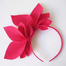 Hot Pink Fascinator Abigail Felt Side Crown Races Headpiece Racing Headband