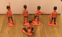 Vintage Crescent Toys Foot Guards Soldiers Painted Plastic Made in England