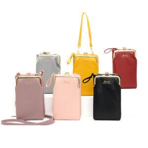 Women Mobile Phone Bag PU Crossbody Mini Purse Wallet Shoulder Pouch