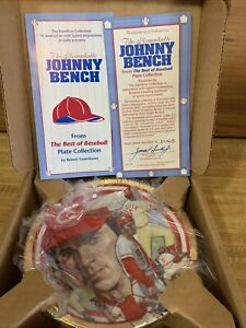 1992 The Hamilton Collection Plate Johnny Bench Cincinnati Reds #3456B
