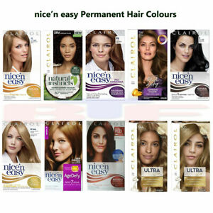3x CLAIROL - NICE 'n EASY PERMANENT HAIR DYE COLOURS FOR WOMEN