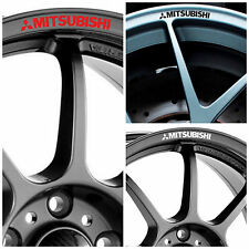 MITSUBISHI Rims Alloy Wheels Curved Decals Stickers Outlander L200 Lancer EVO