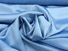 "Dusty Blue Crepe Back Stretch Satin Fabric 52"" Wide Sold By The Yard"