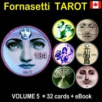 fornasetti tarot card cards deck major arcana oracle book guide vntage rare set