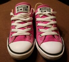 Converse All Stars Hot Pink Red Canvas Casual Shoes Size 5