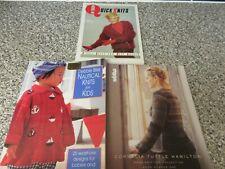 3 Knitting Books Debbie Bliss Nautical Knits & Quick Knits + Noro No 1