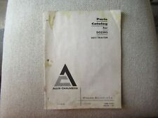 1966 Allis Chalmers Dozer For Hd11 Tractor Parts Catalog Manual