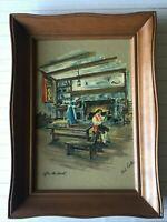 """Vintage Paul Porter Art Print """"After the Hunt"""", 8"""" x 12"""" (Image), Framed"""