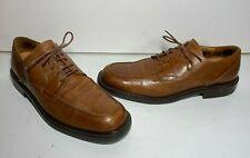 JOHNSTON & MURPHY Passport Brown Leather Dress Shoes Italy Size 12M (EUC)