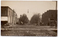 Real Photo Postcard East Delaware Street in Decatur, Michigan~106638