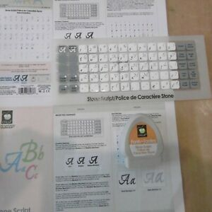 CRICUT Cartridge - STONE SCRIPT (Used)