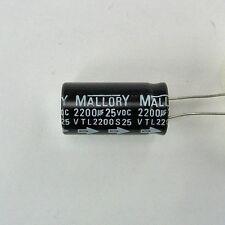 2200 uf 25v Radial Lead Electrolytic Capacitor 2200 Microfarad Leaded Polarity
