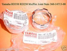 Yamaha RD350 Exhaust Nut x2 NOS RD250 RD350B Muffler Pipe Joint 360-14713-00