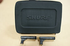 (2) Shure SM57 Microphones w/ Clips and Nice Soft Padded Zipper Case SM 57