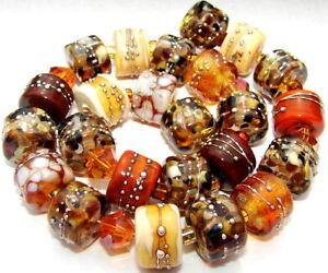 "Sistersbeads ""K-Tortoise Shell"" Handmade Lampwork Beads"