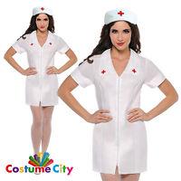 Womens Ladies Sexy Nurse Uniform Hospital Fancy Dress Hen Night Party Costume