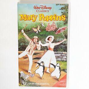 Disney Mary Poppins VHS Movie Video Free Postage PAL AUS