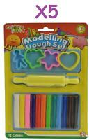 Dough Set 12 Piece Modelling Clay Kids Play Tool Toy 12 Colour Fun 5 Packs