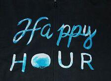 NWT Women's Life is Good Happy Hour Zip Front Go To Hoodie LS Sweatshirt