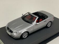 1/43 Herpa Mercedes Slk class R170 1996 to 2003 in Silver on Leather base A1069